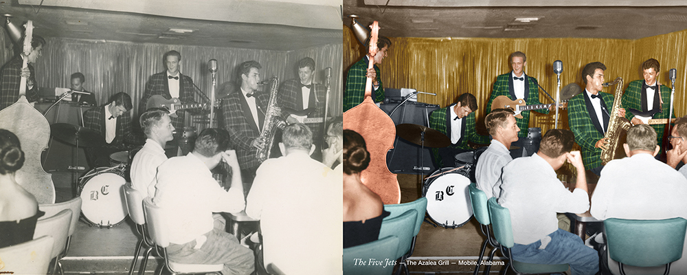 vintage colorization old band Chattanooga photo restoration