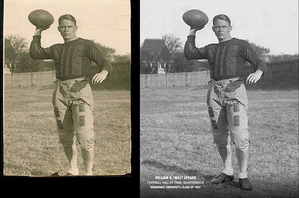 photo restoration Chattanooga Tennessee vintage football portrait