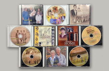 scanned albums custom dvds Chattanooga photo restoration
