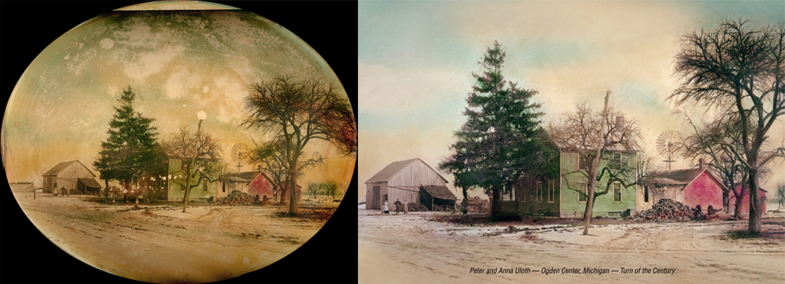 old farm painting fine art print Chattanooga photo restoration