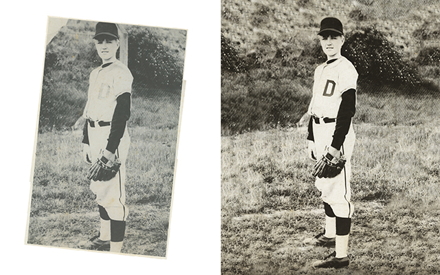photo restoration Chattanooga Tennessee vintage baseball portrait image
