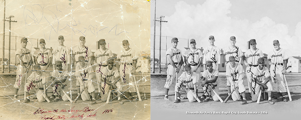 photo restoration Chattanooga Tennessee vintage baseball team portrait iamge