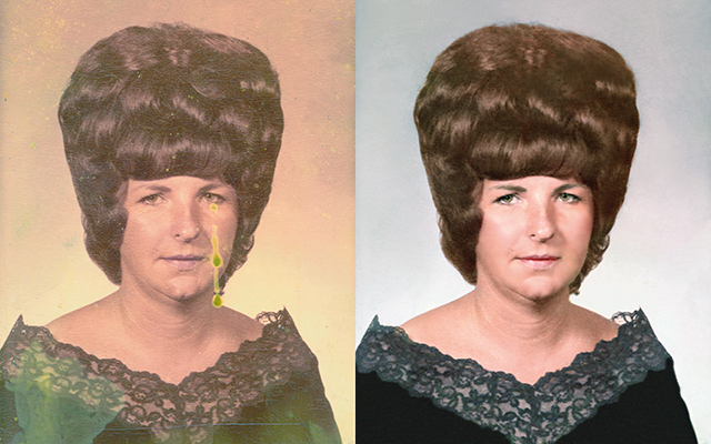 photo restoration Chattanooga professional portrait beehive