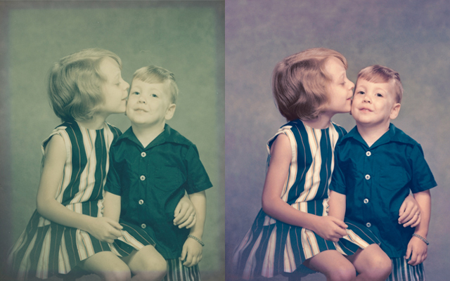 old portrait of kids colorized image colorization chattanooga photo restoration