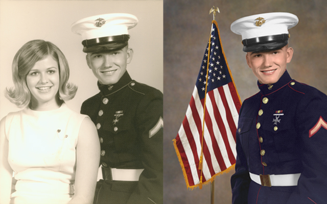 marine portrait military portrait coloration Chattanooga photo restoration