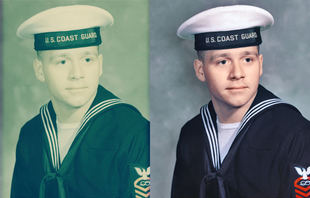 military portrait colorized photo colorization chattanooga photo restoration