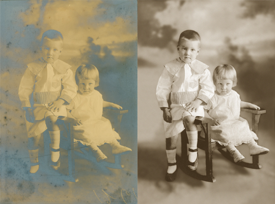 silver mirroring damage chattanooga photo restoration
