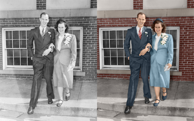 vintage photo colorized image colorization chattanooga photo restoration
