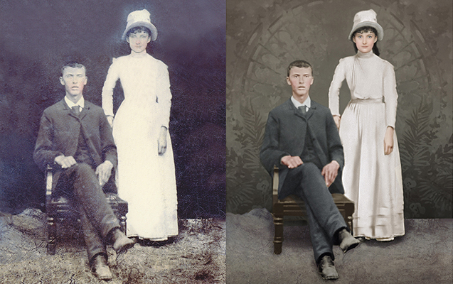 Chattanooga photo restoration Tennessee recoloring vintage portrait