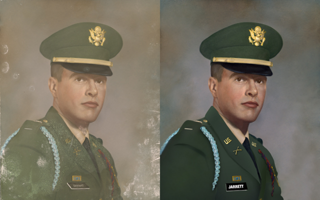 Chattanooga photo restoration military montage