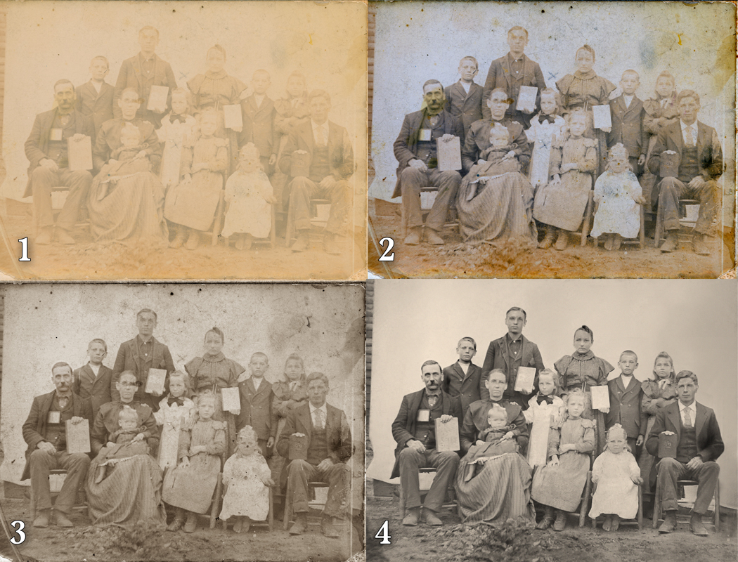 old vintage photo group portrait early 20th century