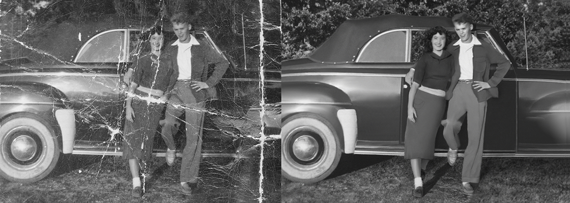 photo restoration Chattanooga Tennessee vintage car