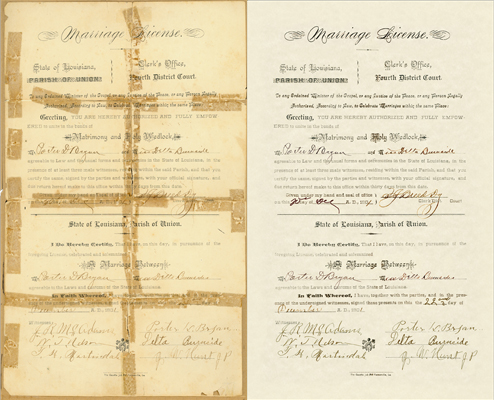 old marriage license chattanooga photo restoration