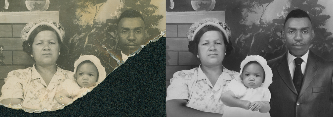 torn photograph missing pieces chattanooga photo restoration